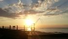 pêcheries au coucher du soleil